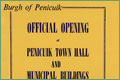 Souvenir Brochure, Official Opening of Penicuik Town Hall, 1963